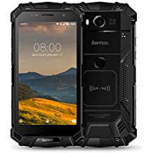 Rugged Cell Phones Unlocked, Aermoo M1 4G LTE Dual Sim GSM Outdoor Smartphone Android 7.0 5580mAh Helio P25 Octa-core 5.2'' FHD IP68 Waterproof Dustproof Shockproof mobile Phone 64GB ROM 6GB RAM-Black