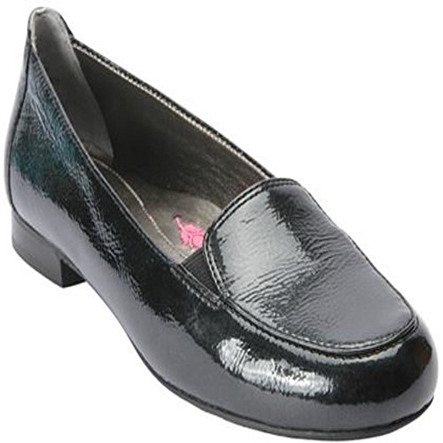 Ros Hommerson 62011 Womens Regan Shoes, Black Crinkle Patent Leather-6.5W by Ros Hommerson