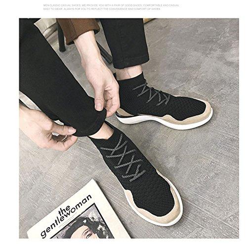 Rain Mens Hög Topp Mode Lapptäcke Sneaker Andas Sport Walking Sko Svart Grå