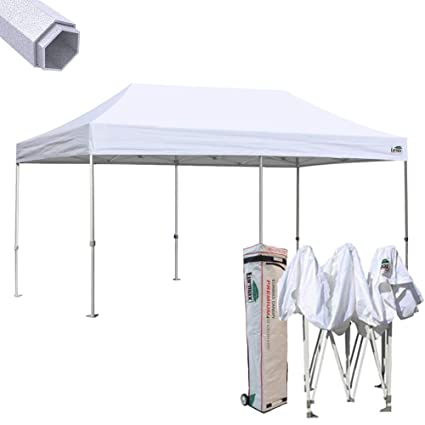Ez Up Canopy 10x20 >> Eurmax Premium 10 X 20 Ez Pop Up Canopy Tent Wedding Party Canopies Gazebo Shade Shelter Commercial Grade Bonus Wheeled Bag White
