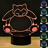 3D illusion Lamp Unique Night Light Bear shape 7 Colors LED Illusion Lamps in a Nursery or Bedroom a Great Gift for Kiddie Kids Children