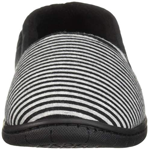 Black Women's Slipper Line a Stripe Dearfoams qTSawpCn