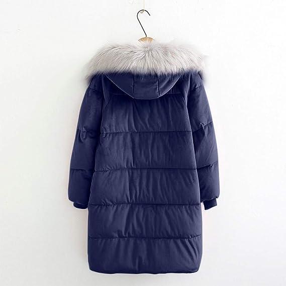 Abrigos Mujer Invierno Modaworld Ropa de Mujer Invierno Tallas Grandes Chaqueta Suelta de algodón para Mujer Collar de Soporte de Bolsillo Abrigo de algodón ...