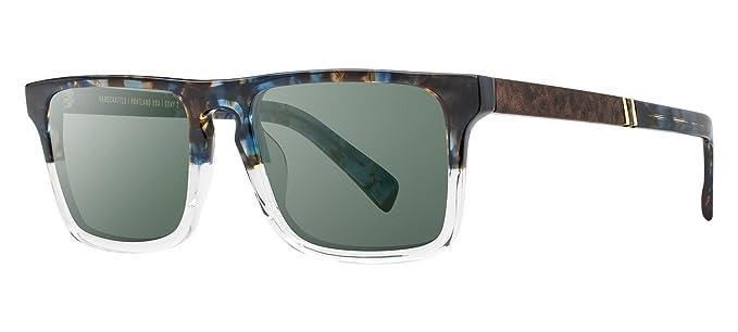 99b754f7cb Shwood - Govy 2 Rectangle Acetate   Wood Sunglasses - Blue Nebula    Elm  Burl