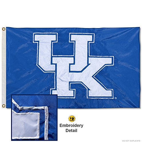 nners Co. Kentucky Wildcats Embroidered and Stitched Nylon Flag (Kentucky University Embroidery)