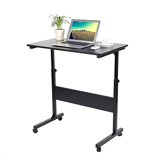 Zerone Mesa de Ordenador con Ruedas, Mesa Ajustable para Laptop y ...