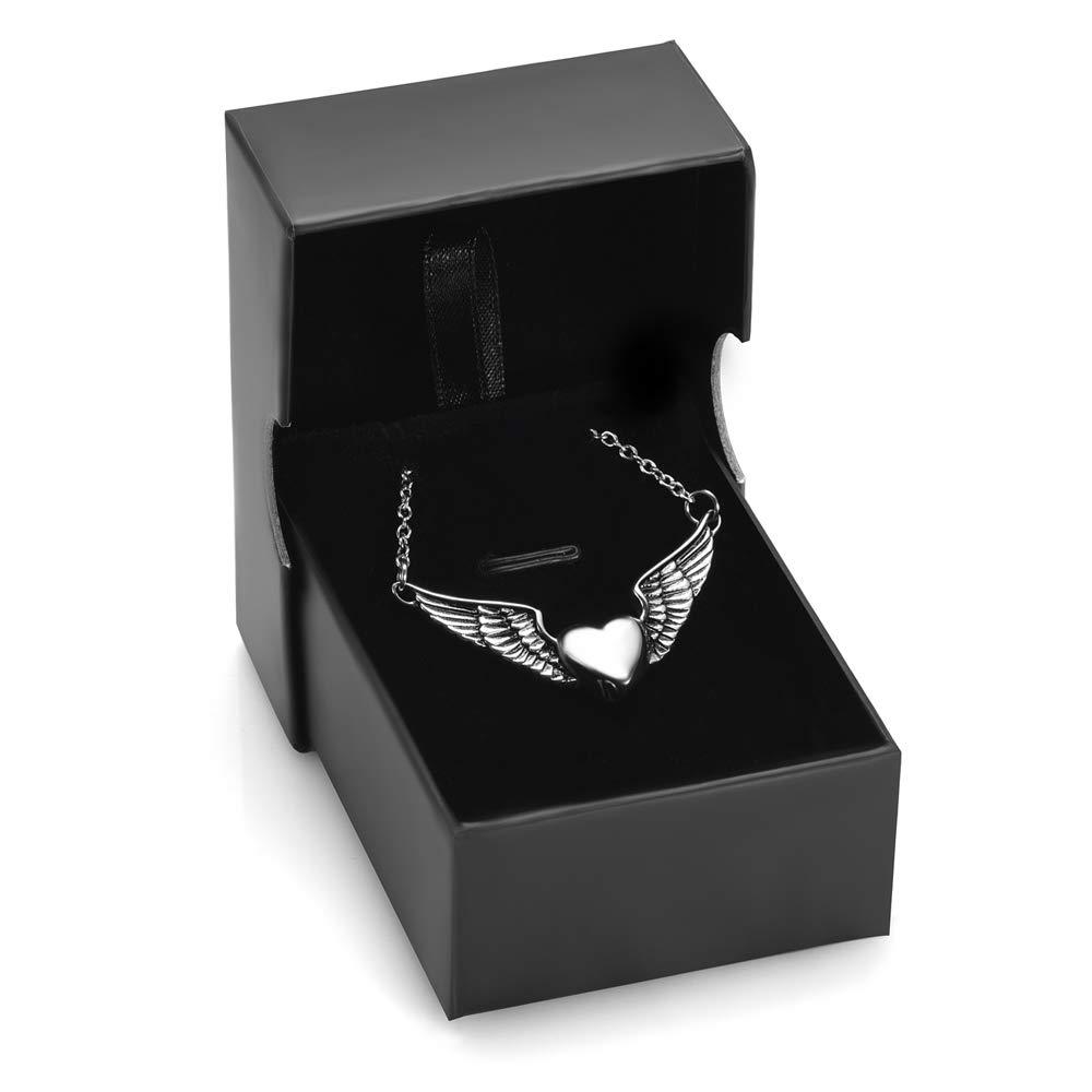 memorial jewelry Foreverlove Angel Wings Pendant Memorial Ashes Urn Pendant Cremation Ashes Urn Jewelry by memorial jewelry (Image #7)