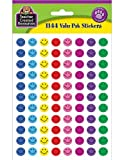 Teacher Created Resources Mini Happy Face Stickers Valu-Pak, Multi Color (6633)