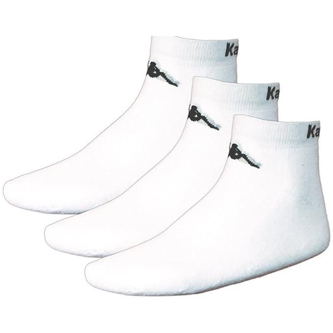 Kappa Sahel - Calcetines para hombre, tamaño 35-38, color blanco: Amazon.es: Deportes y aire libre