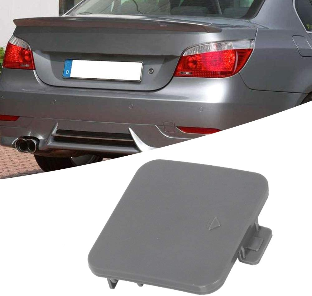 Tow Hook Cover Pair Rear Bumper Tow Hook Cover Black 51127158448 Suitable for X5 E70 2006-2013