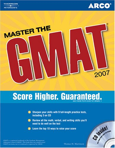 Master the GMAT, 2007/e, w/CD