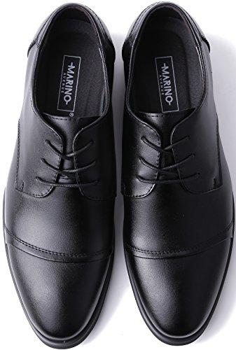 Scarpe Da Uomo Marine Oxford Per Uomo - Scarpe Formali In Pelle - Scarpe Casual Classiche Nere - Cap-toe