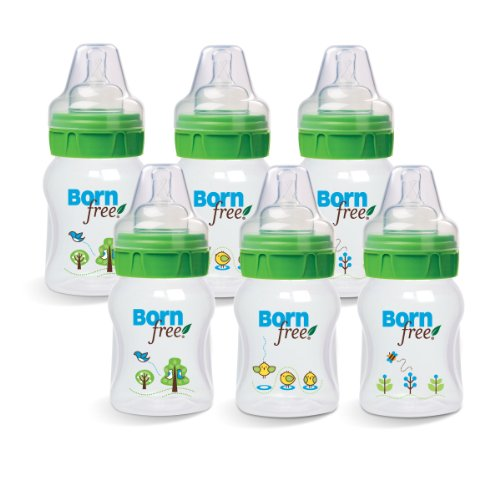Born Free BPA-Free Decorated Bottle with ActiveFlow Venting Technology, Baby & Kids Zone