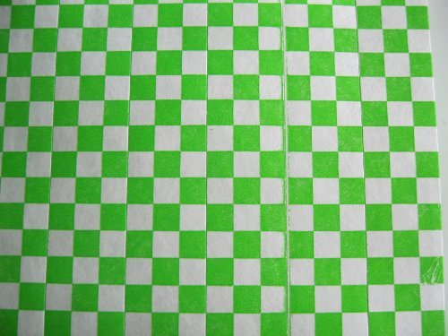 500 Neon Green Checkered Consecutively Numbered Tyvek Wristbands 3/4 ()