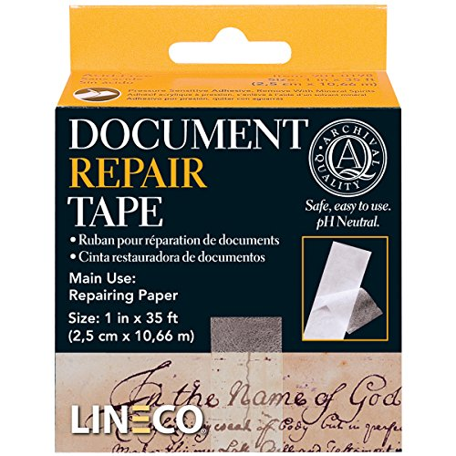 Lineco Archival Document Repair Tape 1 Inch By 35 Feet (Binder Archival Archive)