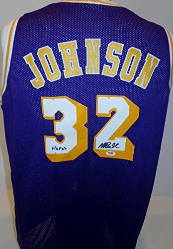 Signed Magic Johnson Jersey - Custom Authenticiy Hall of Fame Ervin - PSA DNA  Certified 7e102a81b