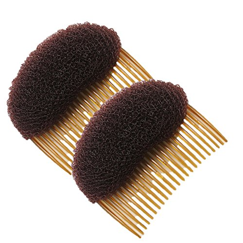 Healtheveryday®2PCS Charming BUMP IT UP Volume Inserts Do Beehive hair styler Insert Tool Hair Comb Black/Brown colors for choose Hot (Brown) (Best Comb For Pompadour)