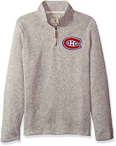 NHL Montreal Canadiens Mens CCM 1/4 Zipccm 1/4 Zip, Grey Heathered, Large