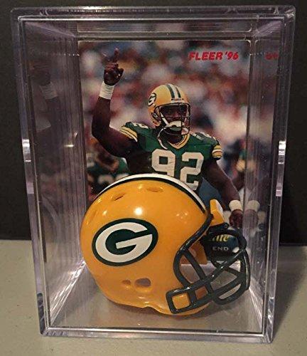 (Green Bay Packers NFL Helmet Shadowbox w/ Reggie White card)