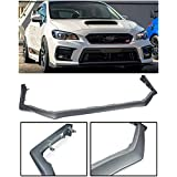 Replacement For 2018-Present Subaru Impreza WRX & STi | EOS V-LIMITED Style Polypropylene PRIMER BLACK Front Bumper Lower Lip Splitter Under Spoiler