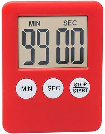 Soulpoint - Reloj de Cocina con Pantalla Digital LCD, Temporizador Cuadrado, Alarma de Cuenta