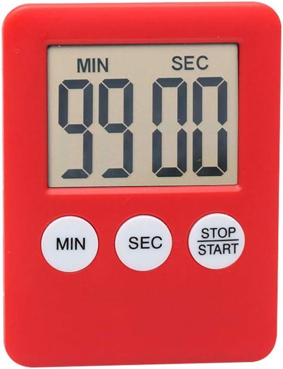 Abracing LCD Num/érique /Écran Cuisine Minuteur Carr/é Cuisson Compte /à rebours Magnet Alarme Horloge