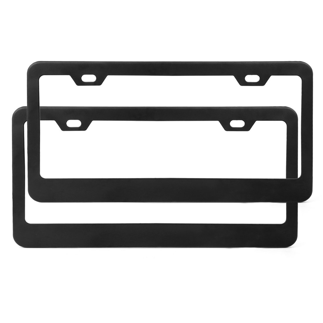 X AUTOHAUX Front License Plate Bumper Mounting Bracket for 09-14 Ford F150 Black Plasitc