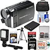 Bell & Howell DV30HD 1080p HD Video Camera Camcorder (Black) 16GB Card + Battery + Case + Tripod + LED Video Light + Kit