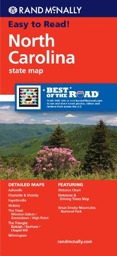 Rand McNally Folded Map: North Carolina (Rand McNally State Maps)