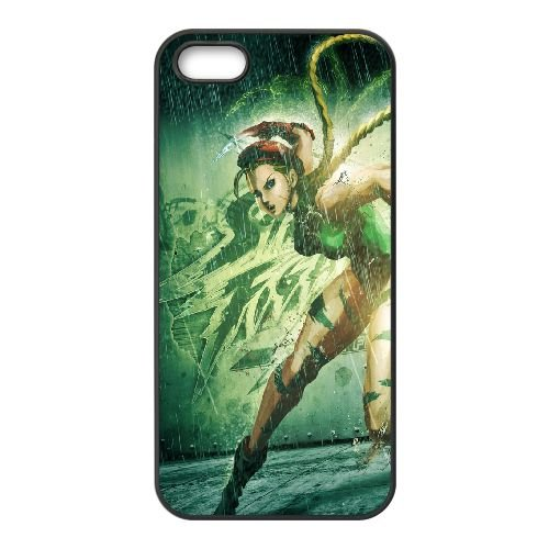 Street Fighter X Tekken, Cammy, Girl, Legs, Tattoo, Hand coque iPhone 5 5s cellulaire cas coque de téléphone cas téléphone cellulaire noir couvercle EEECBCAAN04419