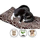 Easyology Pet Bed Mat by Self Warming Dog Bed Crate Pad for Dogs and Cats - Small Dog Bed, Medium Dog Beds - Cat Bed with Reflective Core and Non Electric Puppy Bed