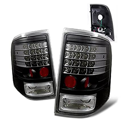 Amazon Com Sppc Black Led Tail Lights Assembly Set For Ford