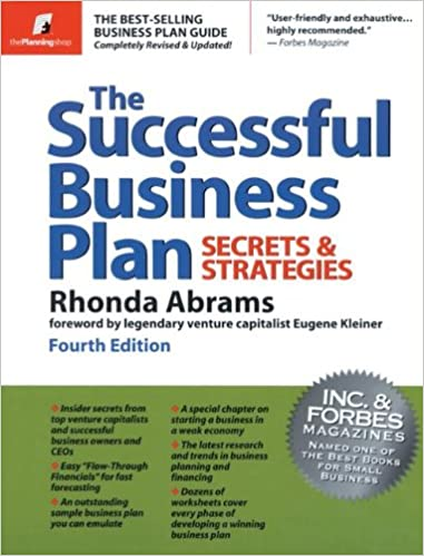 Amazon the successful business plan secrets strategies amazon the successful business plan secrets strategies successful business plan secrets and strategies 9780966963564 rhonda abrams accmission Image collections