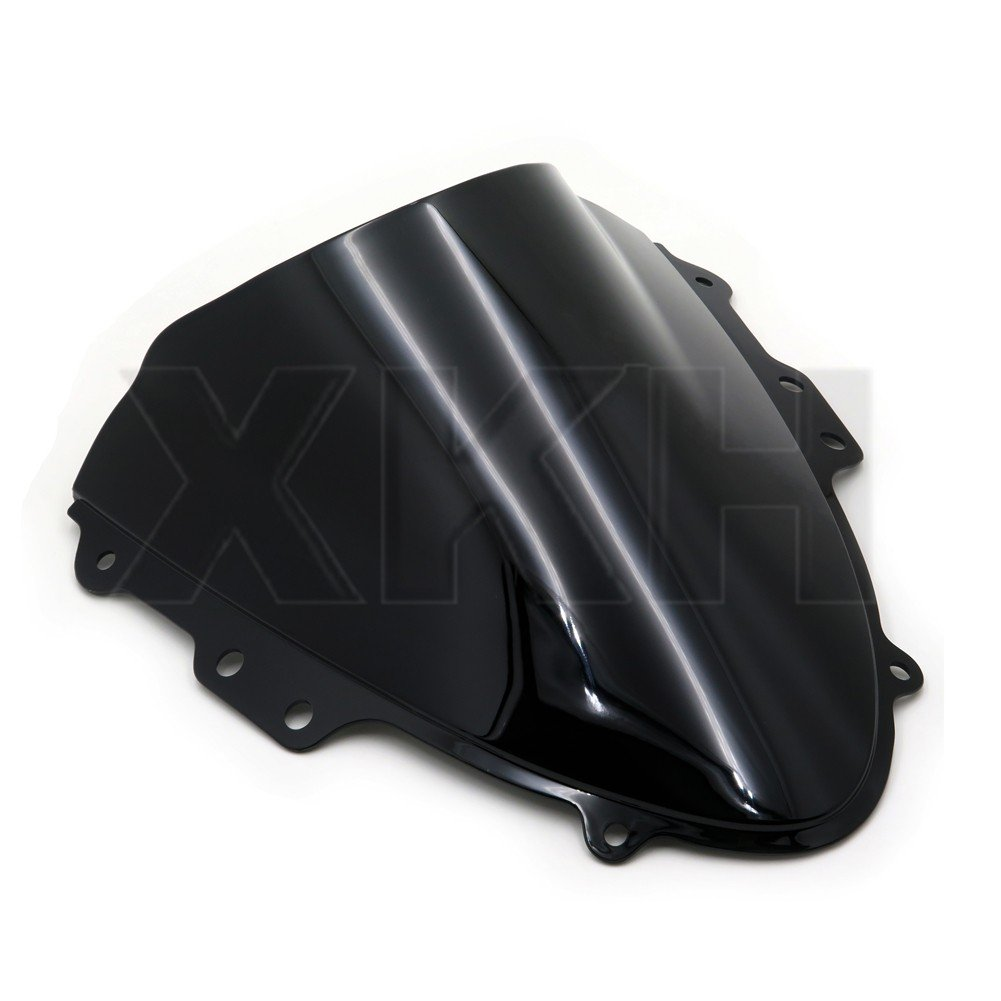 XKH Group Smoke Black Double Bubble Windscreen Windshield for 04-2005 Suzuki GSXR 600 750