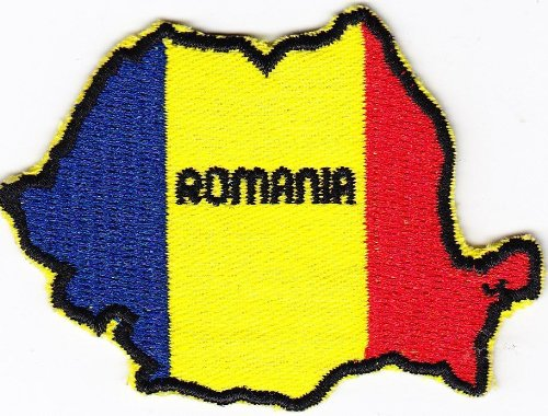 - Multi Color Country National Flag Map Iron on Patch Heat Seal Emblem Applique (Romania 5.5 X 8 cm)