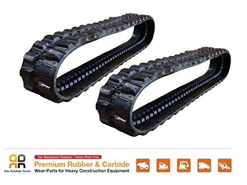 2pc Rio Rubber Track 300x52.5x82, KOBELCO SK030-1 0303-2 SK30 UR UR-1 UR-2 Z14 mini excavator from Rio Rubber Track kobelco