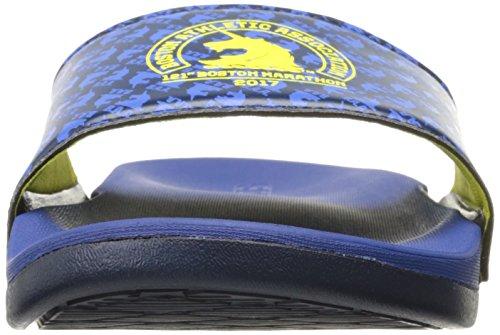 adidas Herren Adilette CF + Boston Slide Sandalen Blau / Gelb / Collegiate Navy