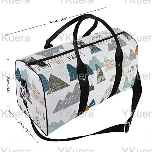 ボーイマウンテンズホワイト1 旅行バッグナイロンハンドバッグ大容量軽量多機能荷物ポーチフィットネスバッグユニセックス旅行ビジネス通勤旅行スーツケースポーチ収納バッグ