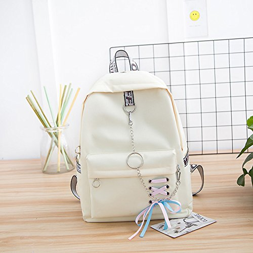 Of Shoulder The In The Rice Lower Lower Bows Of Rice White Bag White Version Right Korean Corner Student Corner Girl Bow High Right In Arches Backpack High School Bag The Canvas Sqbb School URqS8g6c