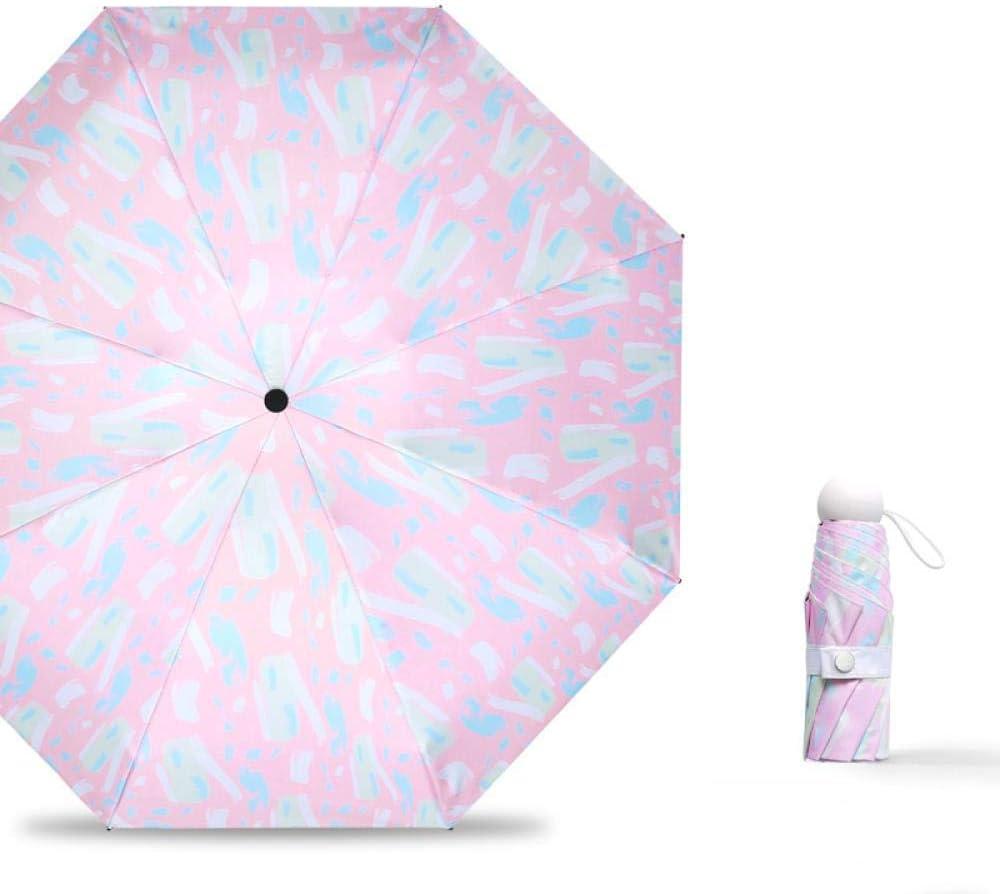 Pocket Mini Umbrellas Portable Ladies Rainproof Sun Umbrella Sunshade Sunscreen White Pink ChildrenS Pocket Umbrellas Women,Pink