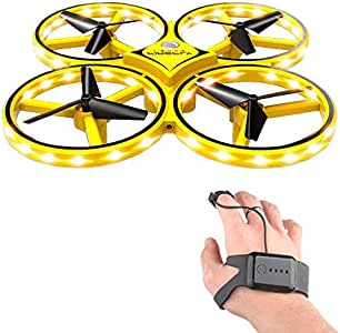 RC Drone for Kids, lesgos 360° Rotating Mini Drone with 32 LED Lights, Quadcopter Interactive Infrared Induction Flying Toys, Hand-Controlled Drone Toy for Kids Gifts
