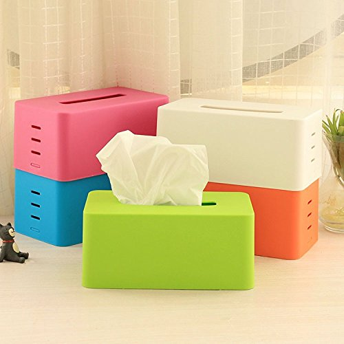 Fashion Candy Color Tissue Box Holder for House & Car Adjustable Lifting Stepped Napkin Box Free Shipping
