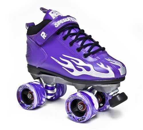 Rock Flame Skate Purple-Grey Sz 4