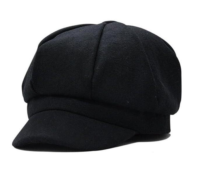 786f2011252dd Amazon.com  Zegoo Unisex Newsboy Cabbie Beret Cap Painter Visor Hats ...