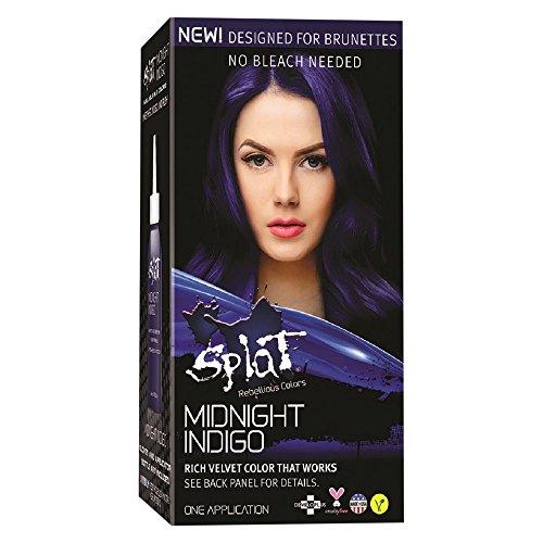 Splat Revellious Colors Rich Velvet Color for Brunettes, Midnight Indigo (Pack of 2)