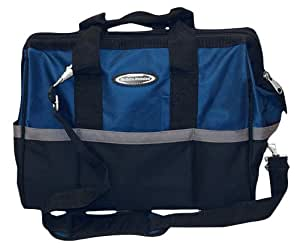 McGuire Nicholas 22316 16-Inch Wide Blue And Black Builders Tool Bag