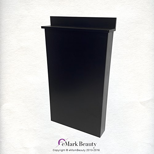 Beauty Salon Floor Length Backsplash in Black for Shampoo Bowls TLC-BC38