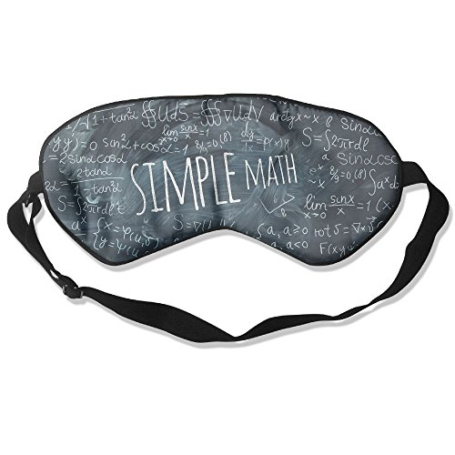 WUGOU Sleep Eye Mask Simple Math Blackboad Lightweight Soft Blindfold Adjustable Head Strap Eyeshade Travel Eyepatch -