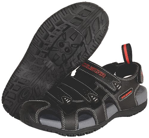 - Exustar E-SS503 Bike Sandal, Black, 45/46 Euro or 11-12 US