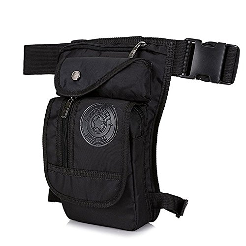 Utility Pouch Pack Waist (Leg Pouch Tactical Hip Bag - Sport Leg Bag Motorcycle Thigh Pack - Fishing Sling Pack Phone Belt Holster Tool Pouch Fanny Pack Military Waist Pack Utility Bags One Shoulder Backpack for Men&Women)